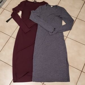 Wilfred Free Long Sleeve Knit Midi Dress Bundle